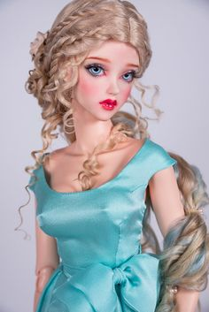 Diamond in the sky (natural lincoln sheep wig for bjd SD, MSD)