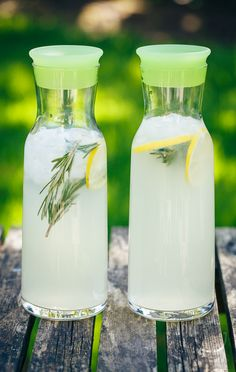 Rosemary Lemonade -- I made this today as per the original recipe (1 cup sugar) but added an extra 1 cup of water at the end and it is PERFECT! I had a lot of rosemary (5 sprigs of at least 5 inches), btw. Benefits of home gardening!