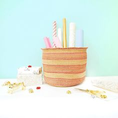 """Are you organized for the holiday season? What is this """"organization"""" I speak of? I'm not sure either but my lady friend (who also happens to be a seriously boss babe) gave me this pretty hand woven basket from her shop @localandlejos to try and teach me her organized ways. I could go on and on about how wonderful her company is (all sustainable mindful and women made products!) but instead for now I'll just let you know that all her large woven baskets are 15% off with code TIDYHOLIDAY…"""
