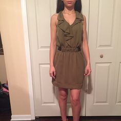 Rachel Roy olive green dress Never worn tags are attached RACHEL Rachel Roy Dresses