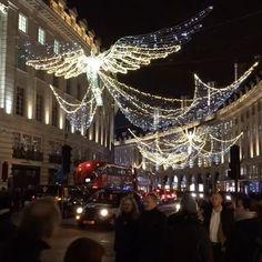 Christmas lights and shopping. #London #regentstreet #christmaslights 🎄