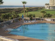 Another day at the beach! Galvestonian's Heated Pool is ocean side