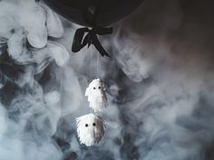 How to make a cute ghost balloon tail