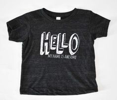 Three Little Numbers // Graphic Tees for Kids