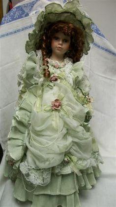 "L031 Vintage RARE Cathay Porcelain Doll Limited 20"" | eBay  $93.50"