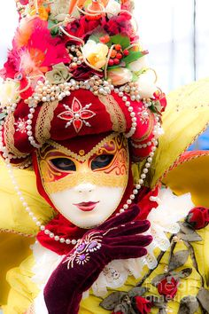 Beautiful Carnival Mask In Venice Photograph by Luciano Mortula ...