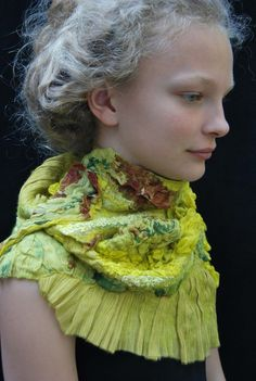 Fabulous nuno felt art scarf by sassafrasdesignl on Etsy