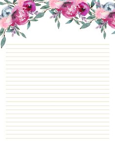 Stationery printables for DIY planner. - Stationery printables for DIY planner. Free Printable Stationery, Templates Printable Free, Printable Paper, Lined Writing Paper, Pretty Writing, Stationery Paper, Note Paper, Calligraphy Paper, Bakery Logo