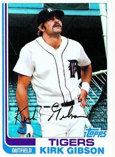 1982 Topps Kirk Gibson Baseball Card for sale online Detroit Sports, Detroit Tigers Baseball, Kirk Gibson, Baseball Cards For Sale, Thing 1, Michigan Wolverines, Baseball Players, Mlb, Boys