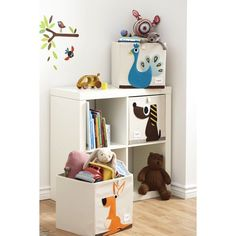 Children/ Kids folding square canvas collapsible storage boxes - 3 Sprouts #3Sprouts