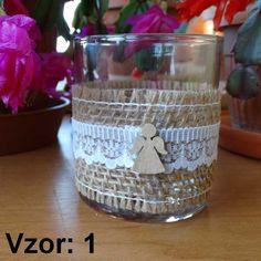 Sklenený svietnik Jarko - Sviečka - Bez sviečky, Vzor - Vzor 1