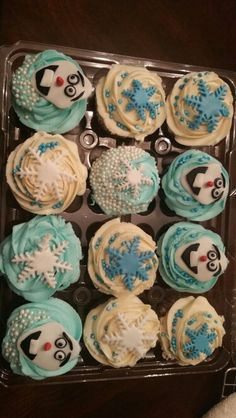 Olef cupcakes! Adorable.. Debs