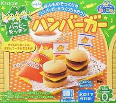 a juego popin cookin chucherias hamburguesa por kracie nuevo