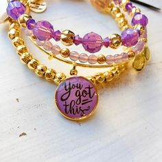 ALEX AND ANI You Got This Charm Bangle   Words hold powerful energy. When you speak something with clarity, presence, and intention, you command the universe to create your will. Use the power of words as a means to relay a positive message to a loved one, yourself, or the universe. It will be heard.