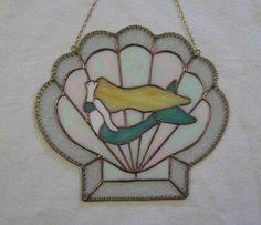 Mermaid Suncatcher Stained Glass Suncatcher Stained Glass