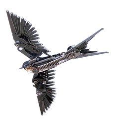 New Typewriter Part Birds by Jeremy Mayer typewriters sculpture birds assemblage Mixed Media Sculpture, Bird Sculpture, Metal Sculptures, Abstract Sculpture, Bronze Sculpture, Angel Wings Art, Colossal Art, Scrap Metal Art, Metal Art