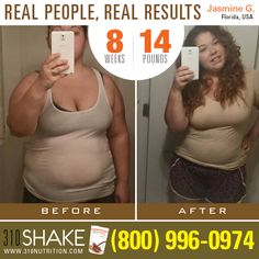 """Jasmine has lost 14 pounds in 8 weeks on 310 Shakes! Way to go Jasmine!  """"Two month into my @310nutrition life. Loving my #results I #gain 115 pounds with my first #pregnancy from preeclampsia Lost 80 in four years gained 20 with my second pregnancy and never lost it . This is my current #weightlossjourney almost 15 pounds lighter in 2 months still have a long way to go but I'm closer then I was yesterday!"""""""