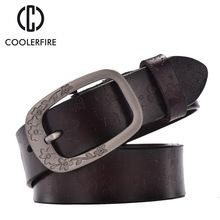 New 2017 fashion belts women retro pin buckle embossed all-match belts genuine leather belts for women cintos cinturon WH004 //FREE Shipping Worldwide //