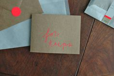 this would be a beautiful and fun wedding invitiation, from shanna murray