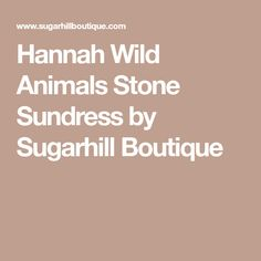 Hannah Wild Animals Stone Sundress by Sugarhill Boutique