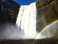 #skogafoss #iceland #waterfall #rainbow 🌈