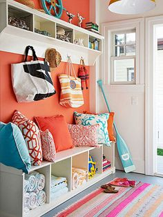 In the aftermath of Hurricane Sandy, summertime and the living is easy -- not to mention colorful -- in this family's New Jersey home by the sea.