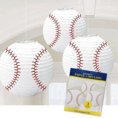 Baseball Paper Lanterns-3 Per Unit | Windy City Novelties