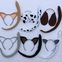 Custom Dog Ears and Tails headbands birthday party cosplay costume children baby child adult toddler Cat Birthday, Birthday Party Favors, Birthday Parties, Dog Ears Headband, Ear Headbands, Puppy Party, Cat Party, Dog Ears Costume, Donkey Costume