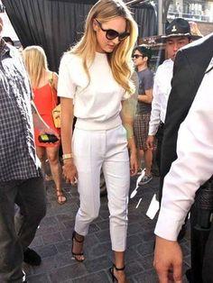 Beyaz Pantolon ile Kombin Önerileri #beyaz pantolon #kombin #pantolon