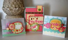 Love this card set using #GlueArts Adhesives and #My Little Shoebox products. Designed by Kristen Swain