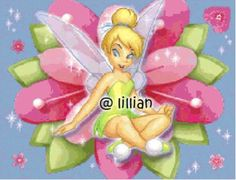 Free Disney Cross Stitch Patterns | New Disney Princess Tinkerbell on Flower Cross Stitch Pattern | eBay