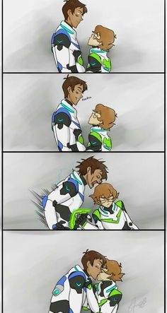 Lance and Pidge's romantic moment with a kiss from Voltron Legendary Defender crafty crafts and dolls: 😍😘💚💙 Voltron Comics, Voltron Memes, Voltron Fanart, Form Voltron, Voltron Ships, Kevedd, Cartoon Shows, Paladin, A Team
