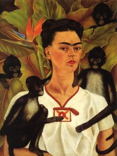 """Decades after discovering Kahlo's work, I finally was able to see her paintings in real life. I saw """"Self portrait with Monkeys,"""" and others of hers when an exhibit came to the Seattle Art Museum many years ago. Frida Kahlo's Self-Portrait With Monkeys"""