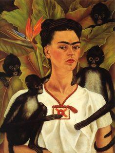 Frida Kahlo - Self Portrait with Monkeys