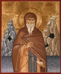 St Nilus the Myrrh-Gusher of Mt Athos (1651)