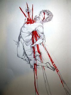 artofdoom:  Inktober Day 11 - Goretober #11 - Skewered Gonna make it base on his execution during the last of his mortal life.