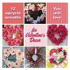 Valentines craft wreaths that are Green. Recycle and upcycle diy wreath ideas you will love! Homemade Valentines Day Cards, Fun Valentines Day Ideas, Valentine Activities, Valentine Crafts For Kids, Valentines Art, Valentine Wreath, Valentine Decorations, Valentine Day Cards, Holiday Crafts