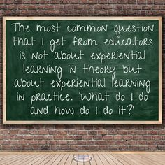What are some examples of experiential learning activities? Click here to learn more!