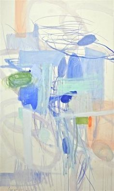 Kate Long Stevenson, Leaps and Bounds, abstract, blue