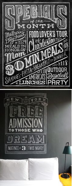 Chalkboard Art - For someone who sees text as art, this is perfect for me