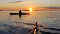 Havkajakk på Helgelandskysten