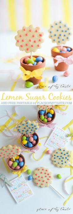 Lemon Sugar Cookies and Free Printable at the36thavenue.com