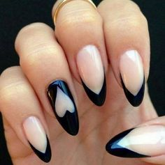 #almond #nails #tips #chevron #round #hearts #heart #minniemouse #claws