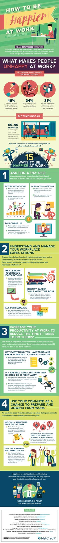 4 Science-Backed Tips to Be Happier at Work - #Infographic