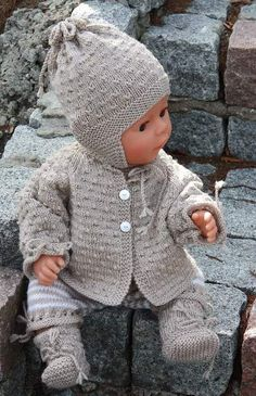 free baby knitting patterns double knit wool - Crochet and Knit Baby Knitting Patterns, Baby Hats Knitting, Knitting For Kids, Baby Patterns, Free Knitting, Knitting Projects, Doll Patterns, Sweater Patterns, Simple Knitting