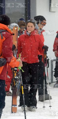 3.31.2005: Kate joined Prince William for a ski vacation in Klosters, Switzerland.