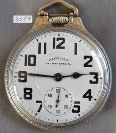 Hamilton 23 Jewel Railroad Pocket Watch, Model 950B