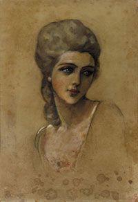 Luigi Bompard - Fanciulla dagli occhi azzurri 1910