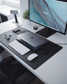 If you've never visited our store before then you wouldn't have seen one of our most popular products; our leather desk mats. Noticing the lack in quality and Computer Desk Setup, Gaming Room Setup, Pc Setup, Home Office Setup, Home Office Design, Office Desk, Workspace Inspiration, Desk Mat, Home Desk