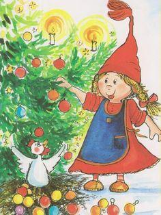 Virpi Pekkala Merry Little Christmas, Christmas Greetings, Christmas Cards, Christmas Postcards, Whimsical Art, Finland, Illustrators, Scandinavian, Diy And Crafts